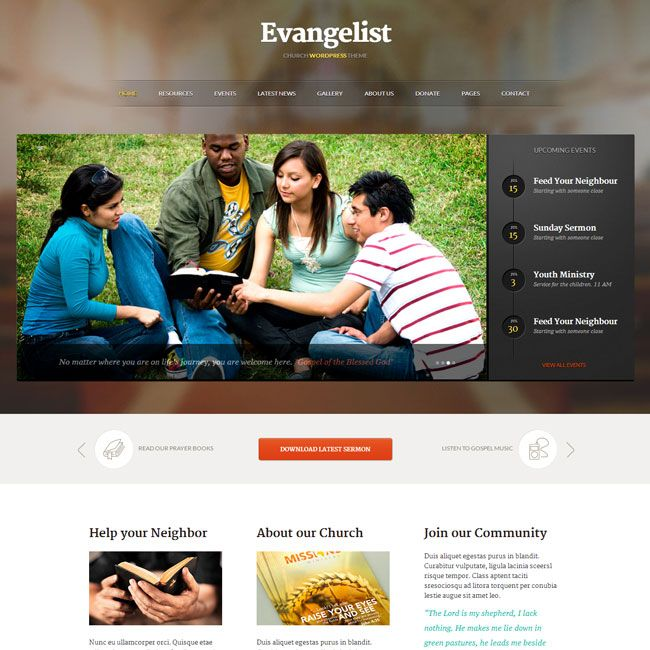 youth group website design